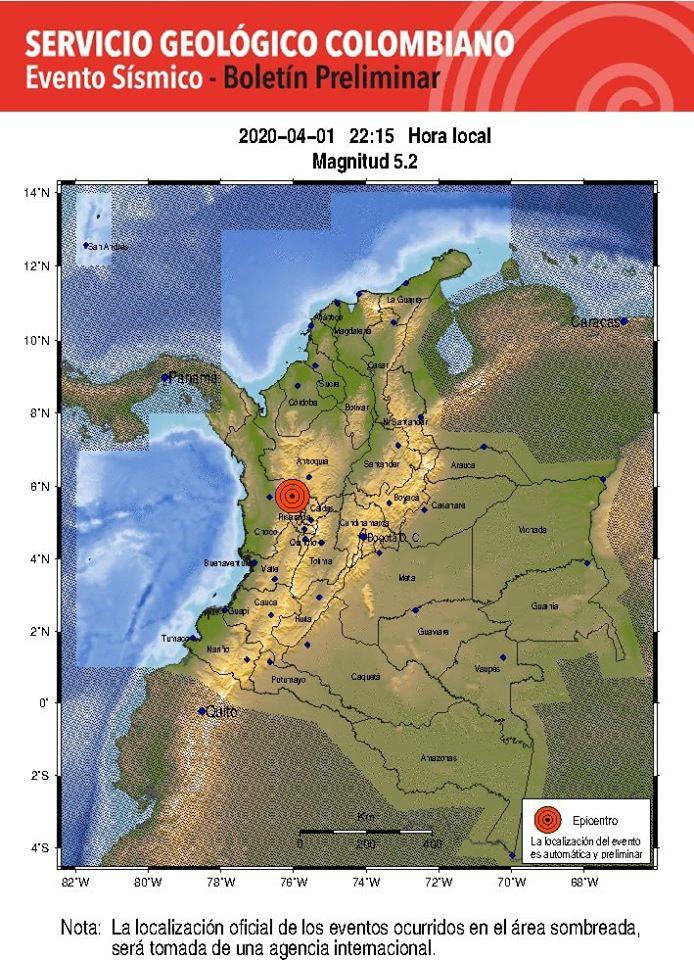 #Ultimahora 🚨🚨🚨🚨🚨 Temblo en la Noche del 01 de abril Aquí el él primer reporte