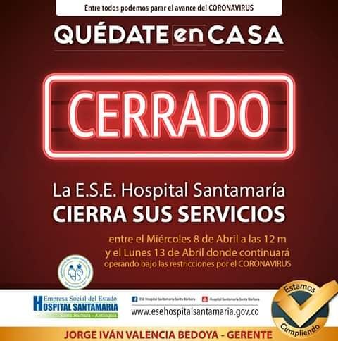 Atención Santa Barbara Antioquia