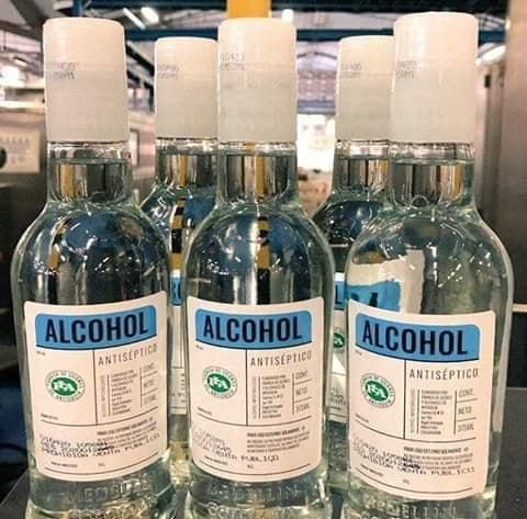 Esto Costará el alcohol antiséptico de la FLA