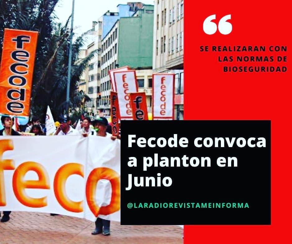 En plena pandemia y aislamiento preventivo Fecode Anuncia plantón para exigir garantías laborales los días 4 y 11 de junio