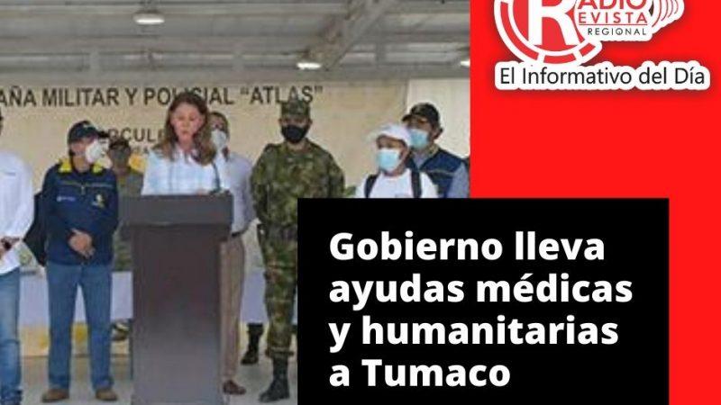 Gobierno lleva ayudas médicas y humanitarias a Tumaco