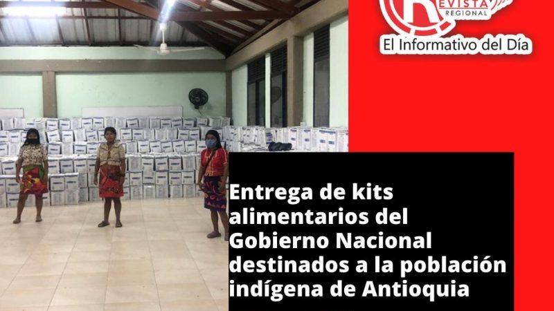 Entrega de kits alimentarios del Gobierno Nacional destinados a la población indígena de Antioquia