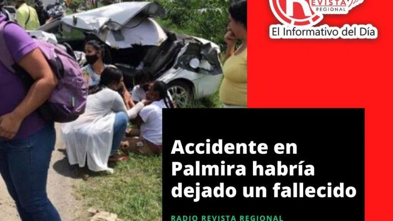 Accidente en Palmira habría dejado un fallecido