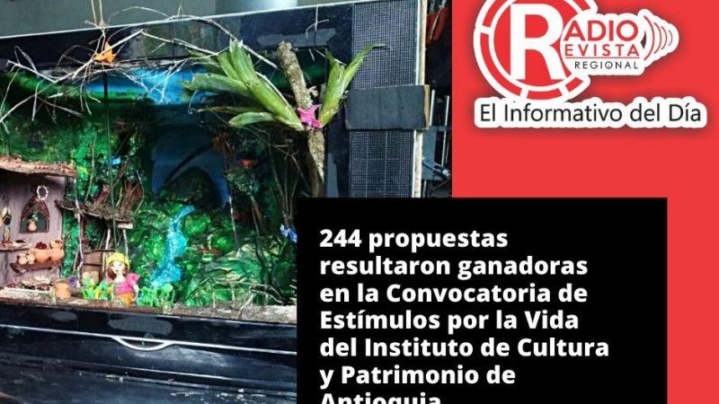 244 propuestas resultaron ganadoras en la Convocatoria de Estímulos por la Vida del Instituto de Cultura y Patrimonio de Antioquia