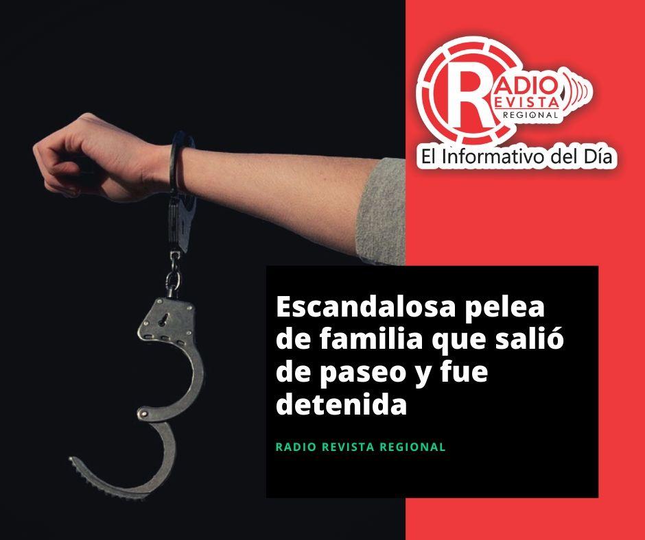 Escandalosa pelea de familia que salió de paseo y fue detenida