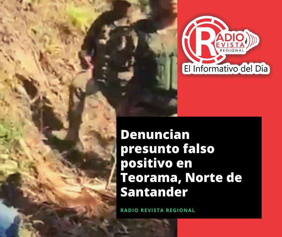 Denuncian presunto falso positivo en Teorama, Norte de Santander