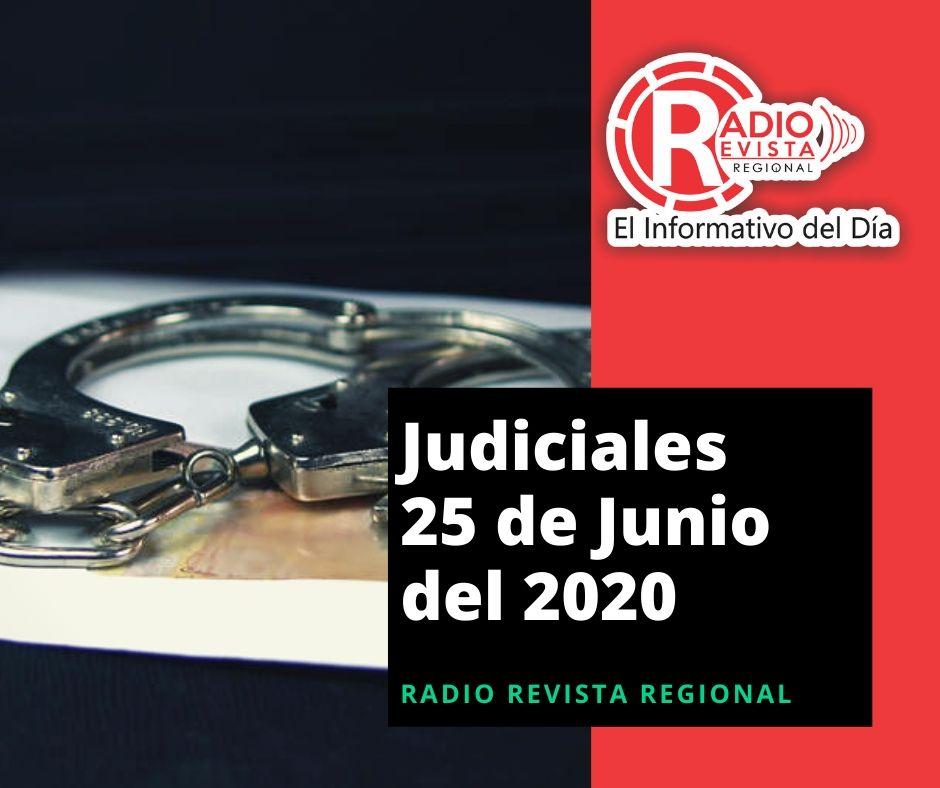 Información judicial en Antioquia para el 25 de Junio de 2020