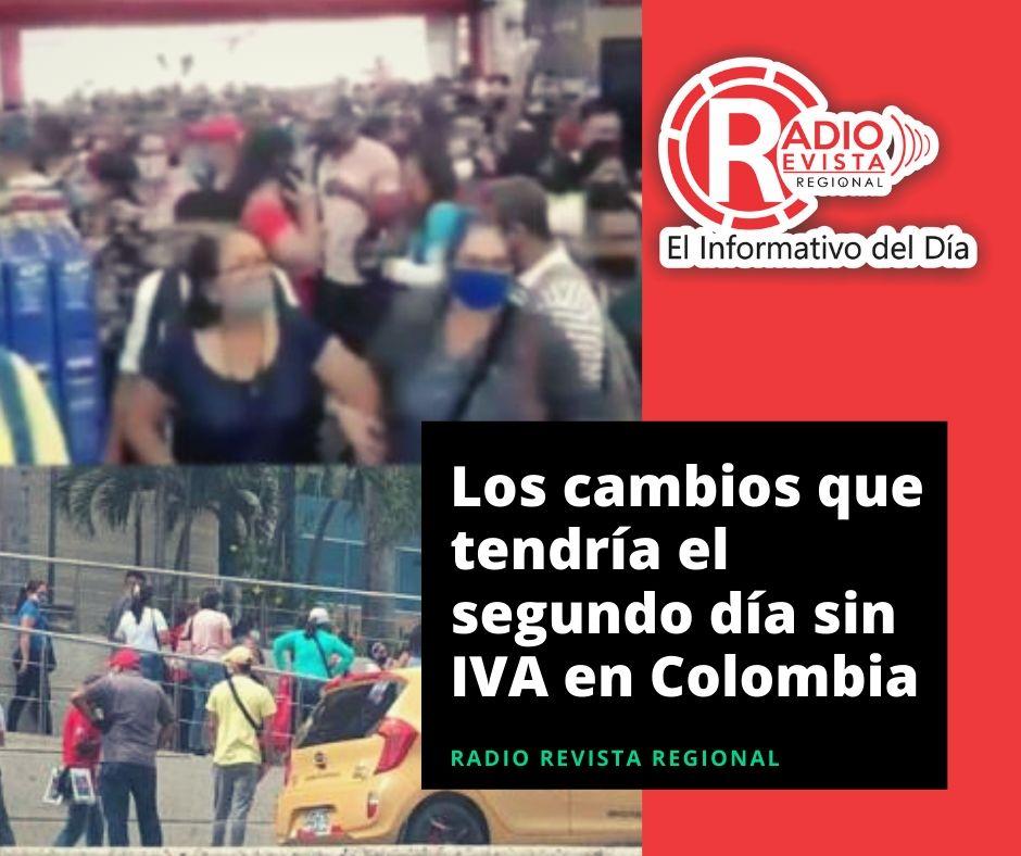 Los cambios que tendría el segundo día sin IVA en Colombia