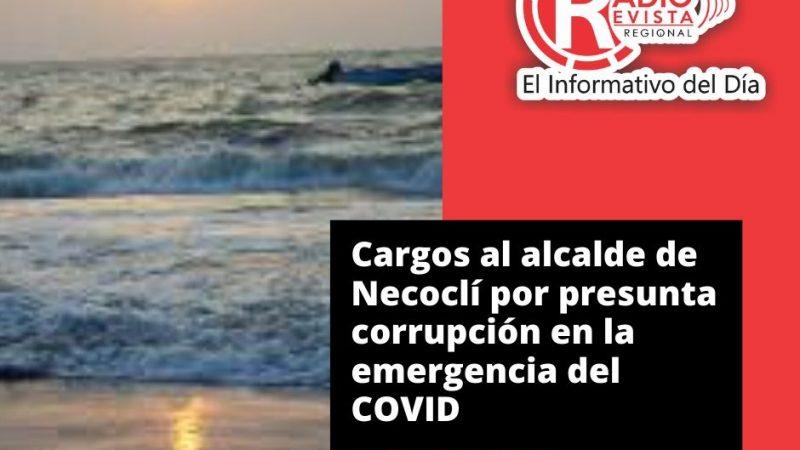 Cargos al alcalde de Necoclí por presunta corrupción en la emergencia del COVID-19