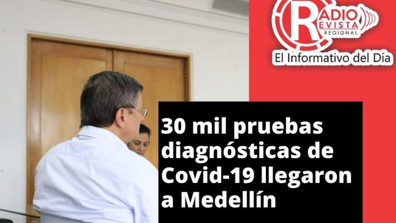 30 mil pruebas diagnósticas de Covid-19 llegaron a Medellín