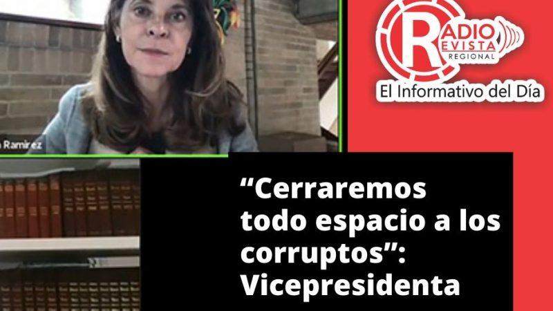 """""""Cerraremos todo espacio a la Corrupcion"""": Vicepresidenta"""