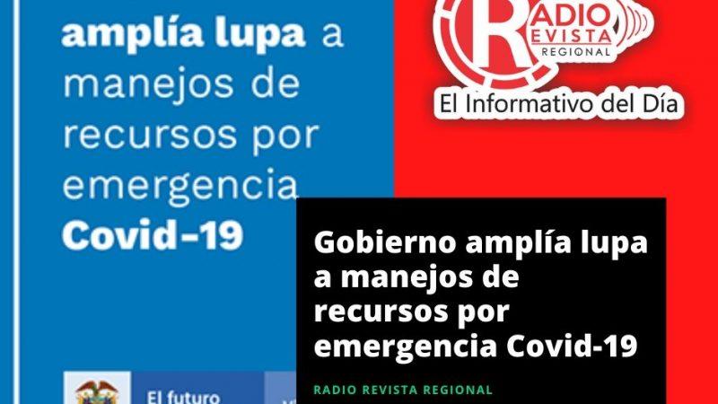 Gobierno amplía manejos de recursos por emergencia Covid-19