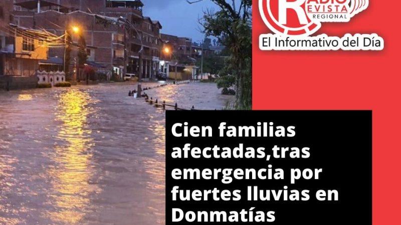 Cien familias afectadas,tras emergencia por fuertes lluvias en Donmatías