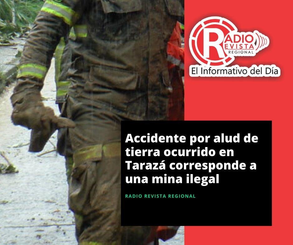 Accidente por alud de tierra ocurrido en Tarazá corresponde a una mina ilegal
