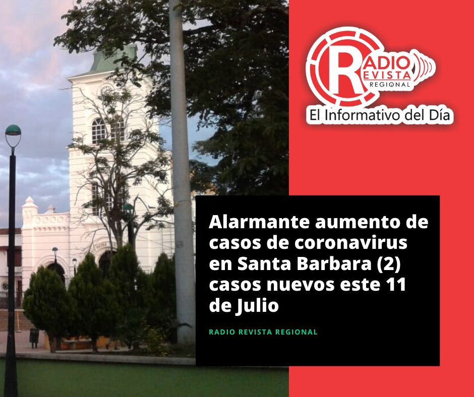 Santa Barbara presenta dos nuevos casos de #coronavirus hoy 11 de julio,asi se dio a conocer en el reporte diario de la Gobernacion de Antioquia