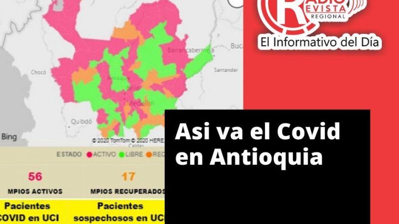 🗣️ Con 2.279 casos nuevos registrados hoy, el número de contagiados por COVID-19 en Antioquia se eleva a 38.026.