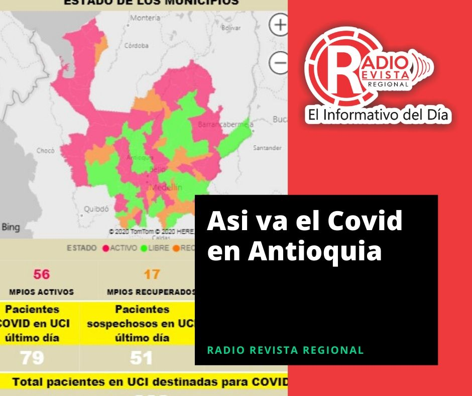 Asi Va el Covid en Antioquia