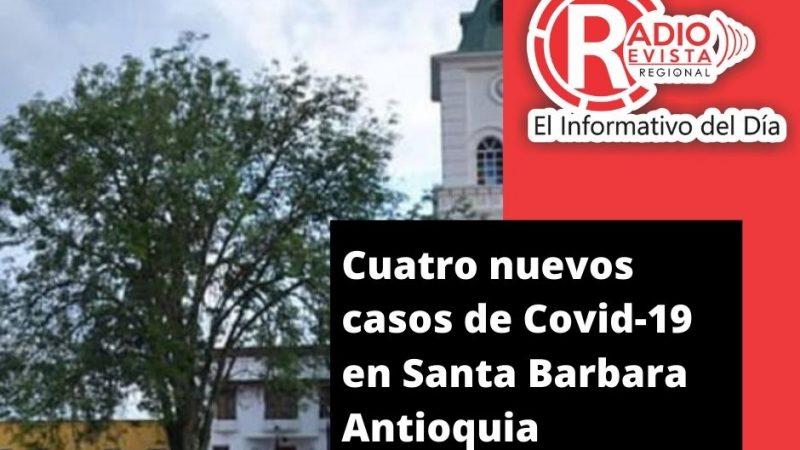 Cuatro casos de #Coronavirus en Santa Barbara Antioquia asi la cifras según la Gobernación el municipio presenta (24) casos activos (4) recuperados