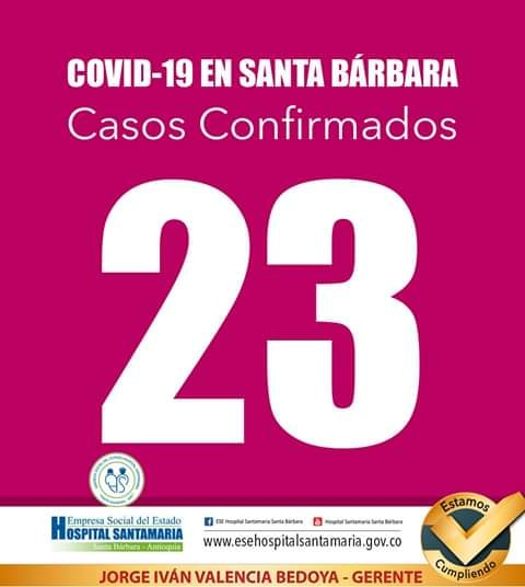 23 Casos de Covid en Santa Barbara