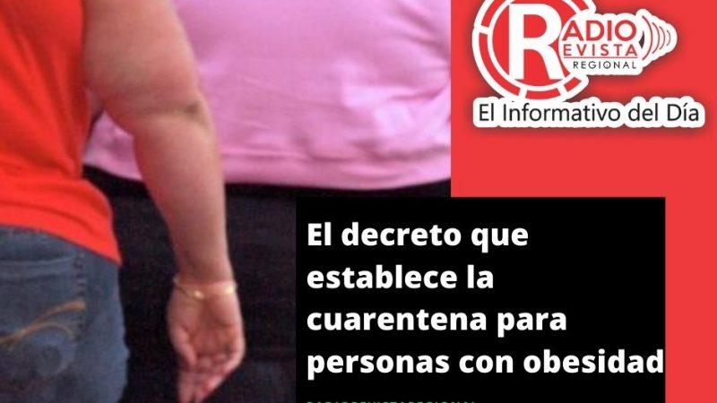 El decreto que establece la cuarentena para personas con obesidad