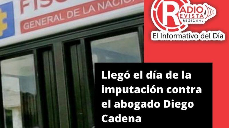 Llegó el día de la imputación contra el abogado Diego Cadena