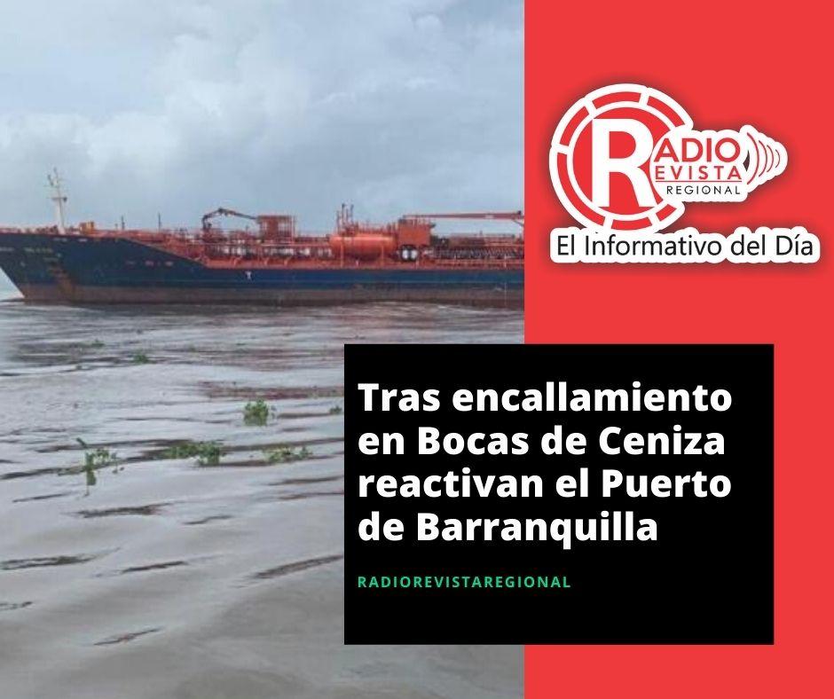 Tras encallamiento en Bocas de Ceniza reactivan el Puerto de Barranquilla