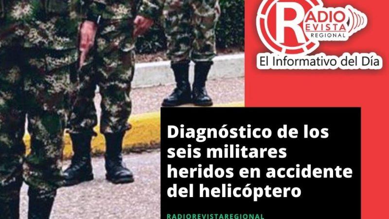 Diagnóstico de los seis militares heridos en accidente del helicóptero