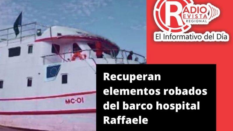 Recuperan elementos robados del barco hospital Raffaele