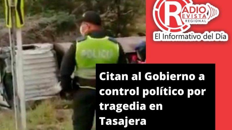 Citan al Gobierno a control político por tragedia en Tasajera