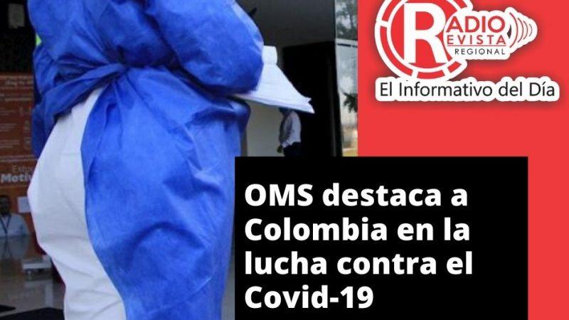 OMS destaca a Colombia en la lucha contra el Covid-19
