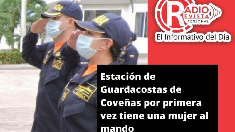 Estación de Guardacostas de Coveñas por primera vez tiene una mujer al mando