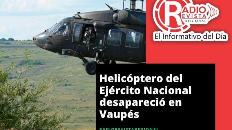 Helicóptero del Ejército Nacional desapareció en Vaupés