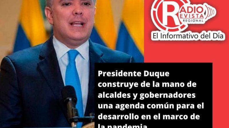 Presidente Duque construye de la mano de alcaldes y gobernadores una agenda común para el desarrollo en el marco de la pandemia