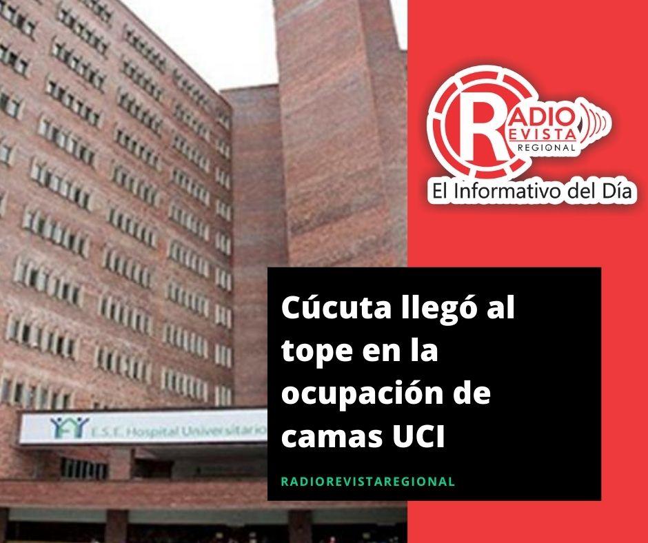 Cúcuta llegó al tope en la ocupación de camas UCI