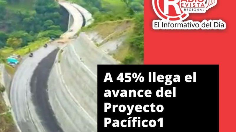 A 45% llega el avance del Proyecto Pacífico1