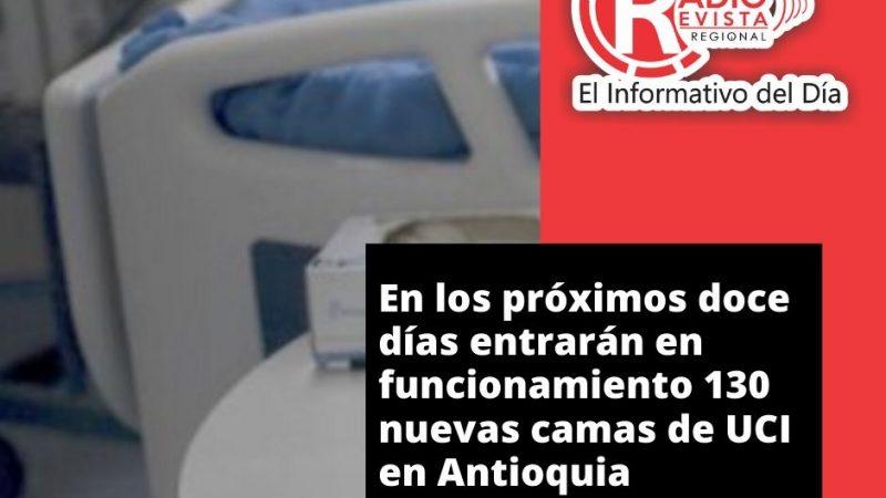 En los próximos doce días entrarán en funcionamiento 130 nuevas camas de UCI en Antioquia