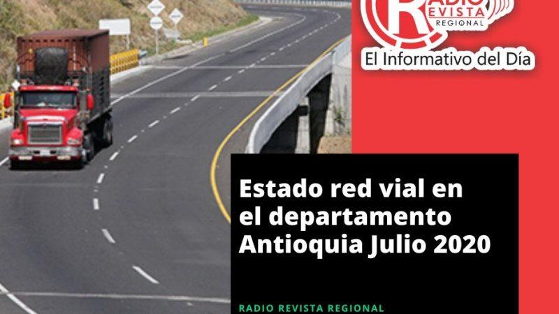 Estado de la red vial del departamento de Antioquia