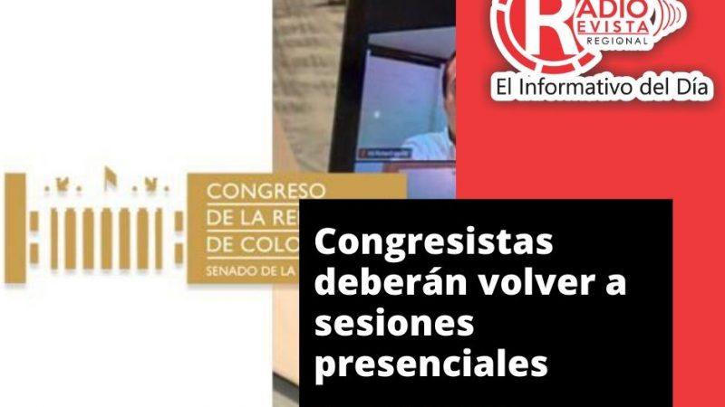 Congresistas deberán volver a sesiones presenciales