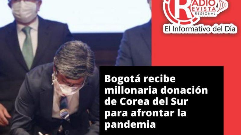 Bogotá recibe millonaria donación de Corea del Sur para afrontar la pandemia