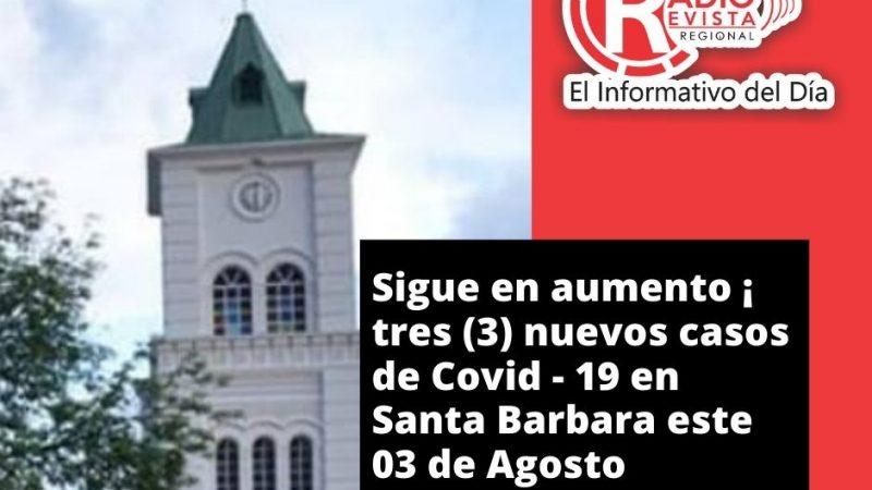 Santa Barbara Antioquia presenta (3) nuevos contagios de Covid-19 este 3 de Agosto