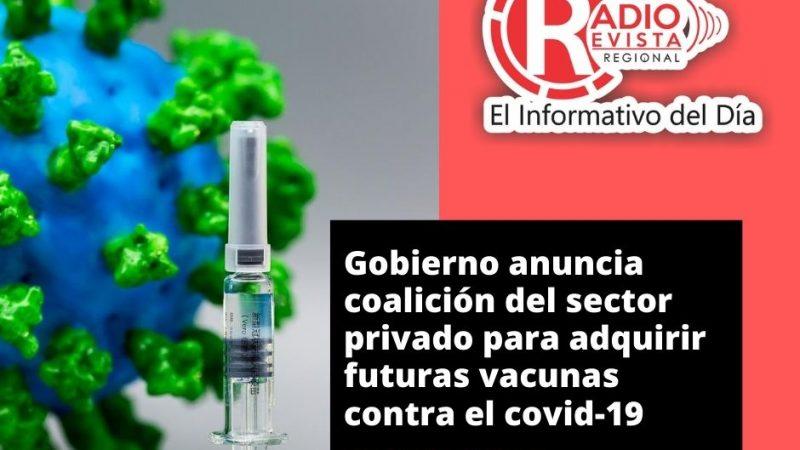 Gobierno anuncia coalición del sector privado para adquirir futuras vacunas contra el covid-19