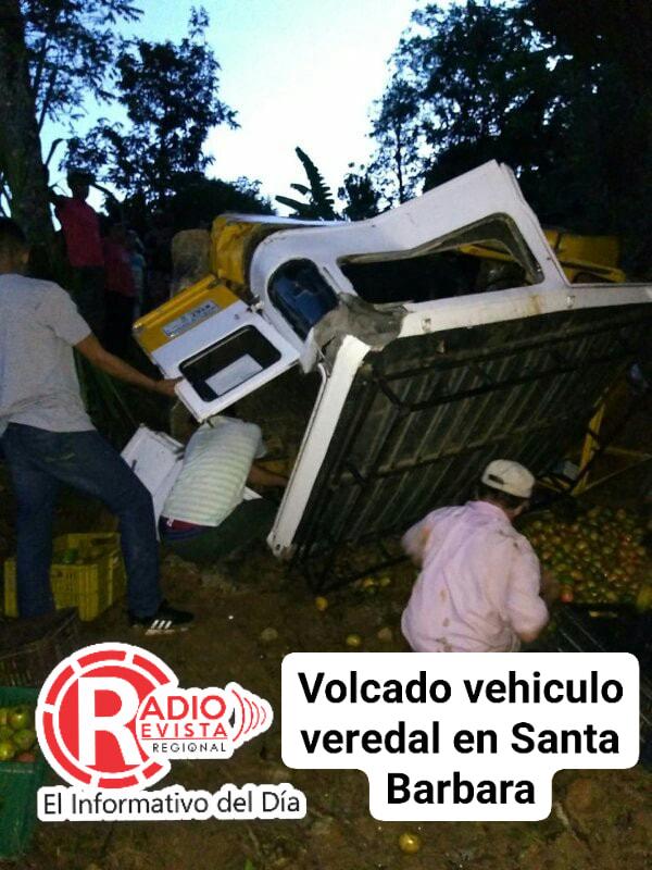 Accidente vehicular en la vereda la esperanza