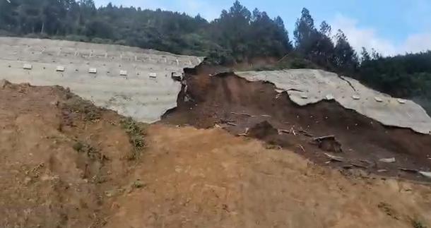 Deslizamiento hacia el túnel de Amaga Antioquia
