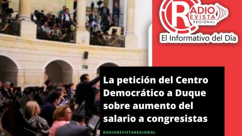 La petición del Centro Democrático a Duque sobre aumento del salario a congresistas