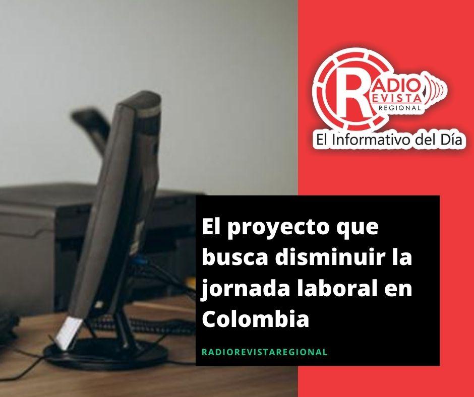 El proyecto que busca disminuir la jornada laboral en Colombia