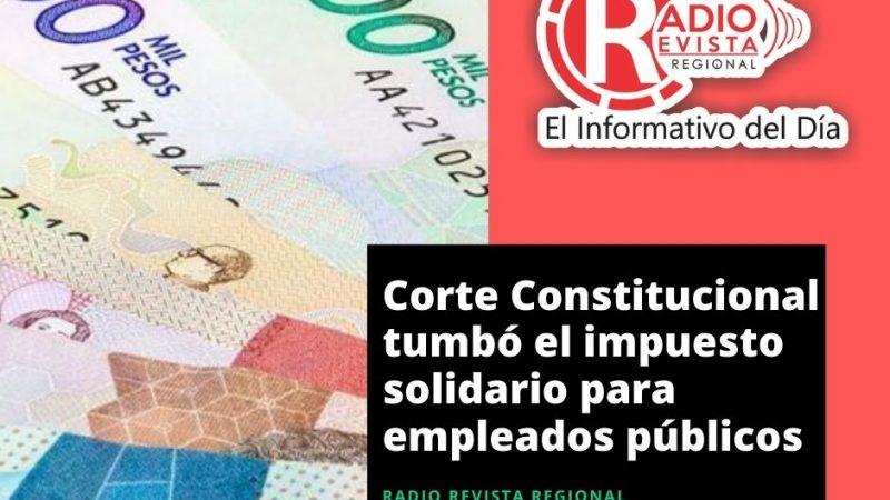 Corte Constitucional tumbó el impuesto solidario para empleados públicos
