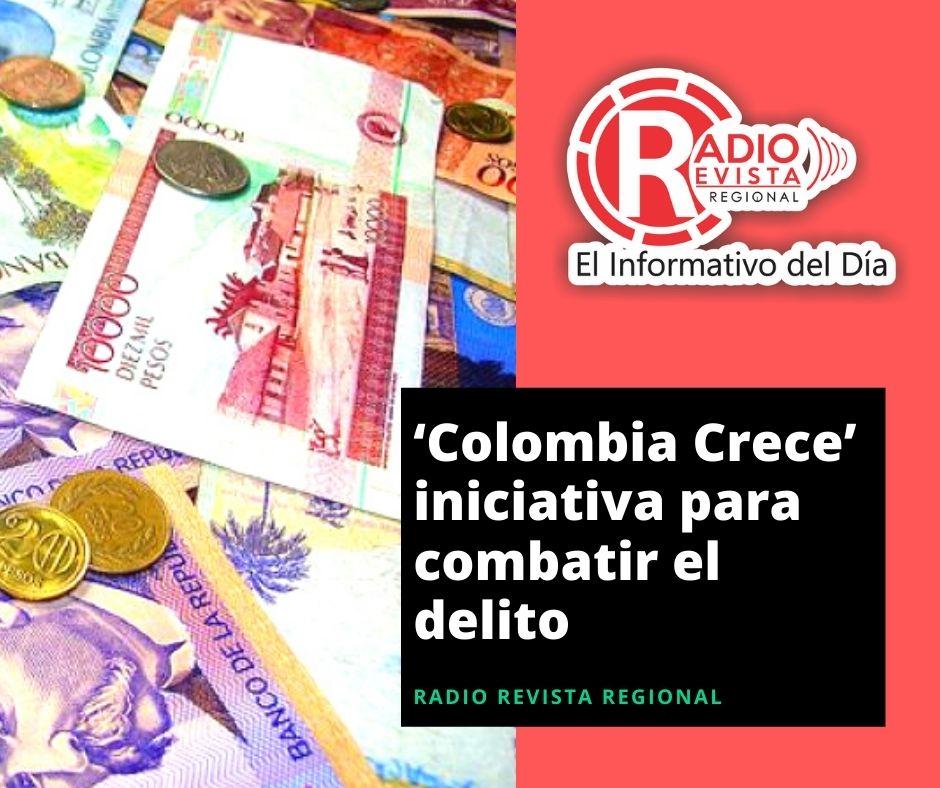 Colombia y EE.UU. lanzan la iniciativa 'Colombia Crece' para combatir el delito y, al mismo tiempo, llevar inversión, desarrollo y obras a zonas rurales y comunidades vulnerables