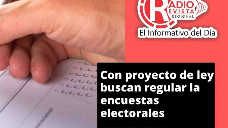 Con proyecto de ley buscan regular la encuestas electorales