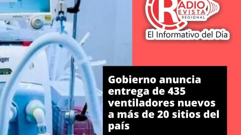 Gobierno anuncia entrega de 435 ventiladores nuevos a más de 20 sitios del país