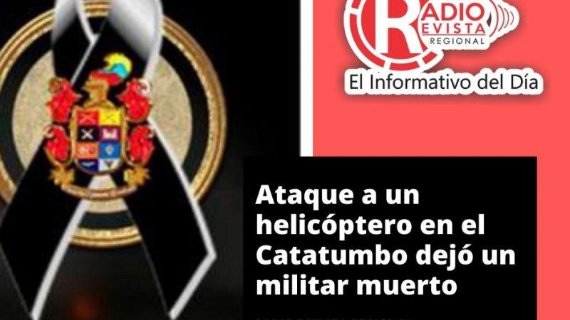 Ataque a un helicóptero en el Catatumbo dejó un militar muerto